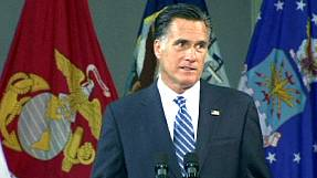 "Romney calls for ""change of course"" in Middle East"