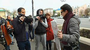 Moscow protest over Radio Liberty staff cuts