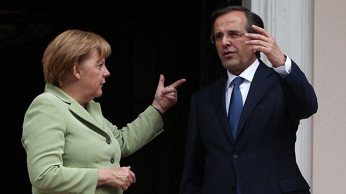 Almanya'ya kızgın Yunanistan Merkel'i ağırlıyor