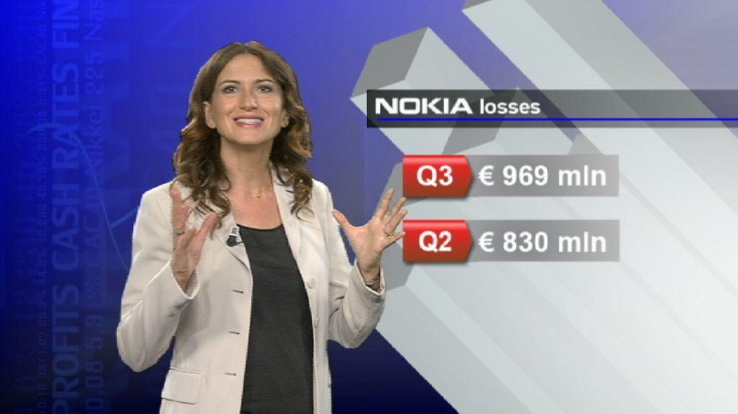 Nokia shares soar despite steep losses