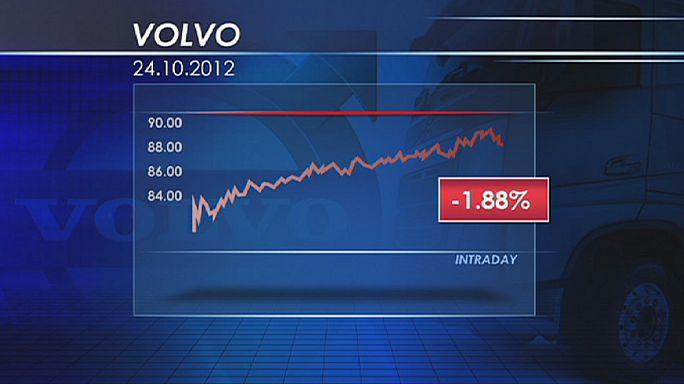 Volvo desilude mas limita perdas na bolsa