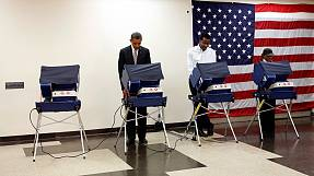 Barack Obama a voté à Chicago
