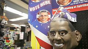 Halloween poll puts Obama ahead