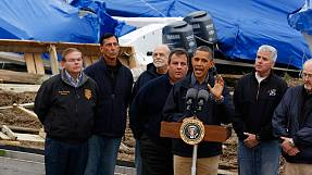 Sandy hands surge to Obama as Republicans praise president