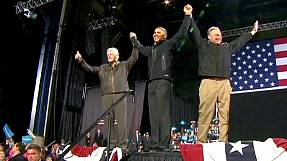 Obama lauds 'master' Bill Clinton at Virginia rally
