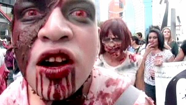 Zombies invade the streets of Mexico City