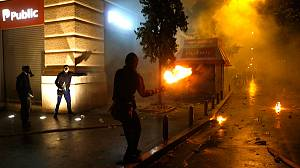Violent protests as Greek parliament approves austerity bill