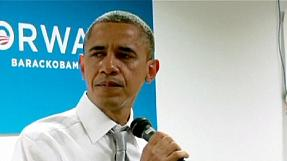 Barack Obama in tears while thanking volunteers – nocomment