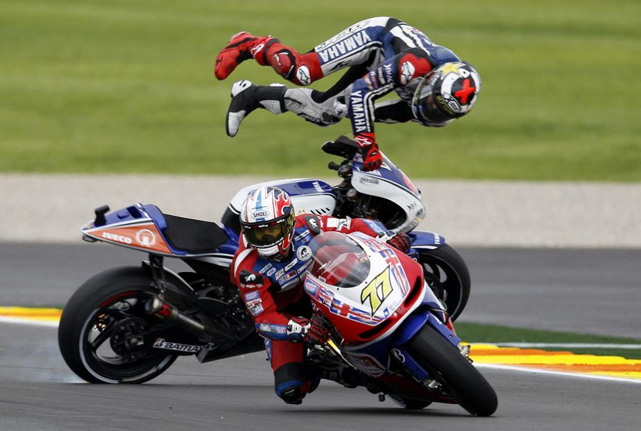 Jorge Lorenzo's fall at Spain MotoGP