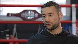 First Afghan boxer 'fights for peace'
