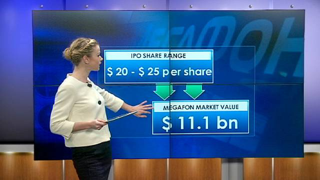 """Акции """"МегаФона"""" упали ниже цены размещения"""