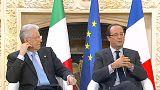"""François Hollande y Mario Monti: """"Hemos demostrado que podemos salir adelante"""""""