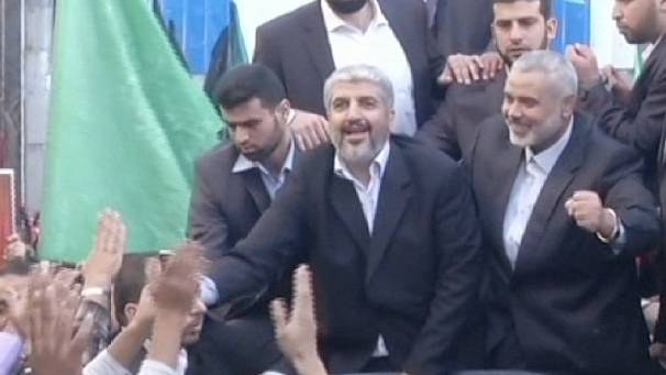 Hamas chief Khaled Mashaal arrives in Gaza on first ever visit