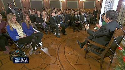 Erasmus students quiz Barroso on the state of Europe