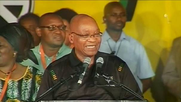 South Africa's Zuma sings ANC conference closing address
