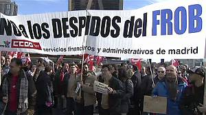 Spain: protests against Bankia cutback plans
