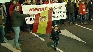 Spain: Iberia staff protest against job cuts