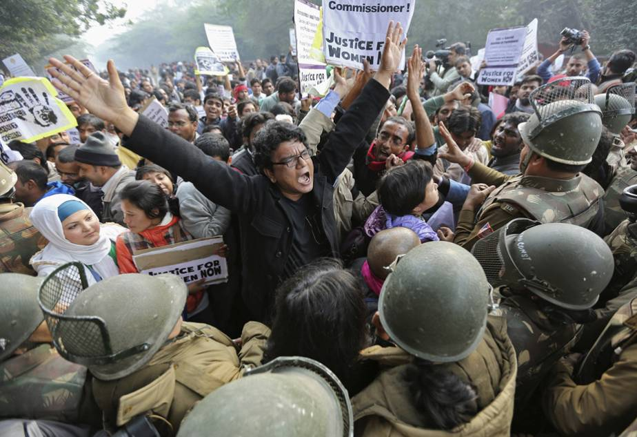 Protesters demand better laws for the protection of women in New Delhi