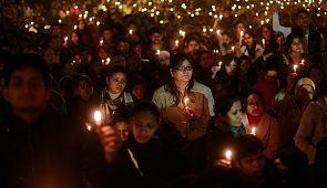 В Индии простились с девушкой-жертвой насилия