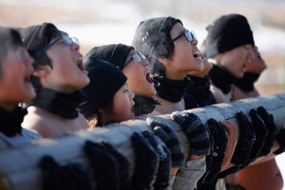 Military training for South Korean teenagers