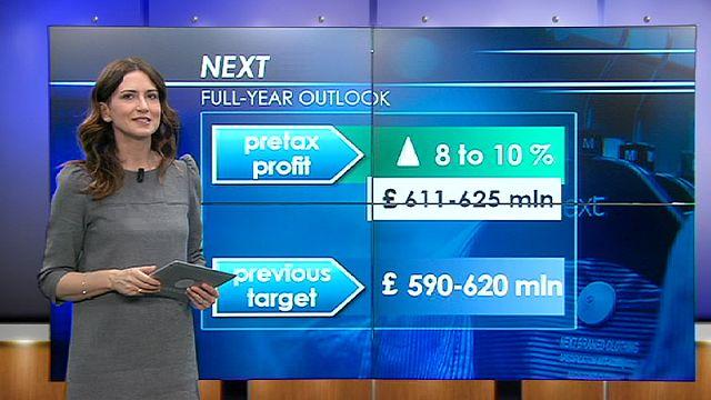 نيكست تتحدى إحباط الأسواق المالية في لندن