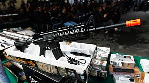 Toy guns destroyed in anti-violence operation in Mexico