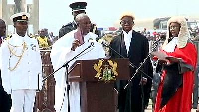 Ghana's opposition boycotts presidential swearing in