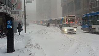 Heavy storm in Montreal