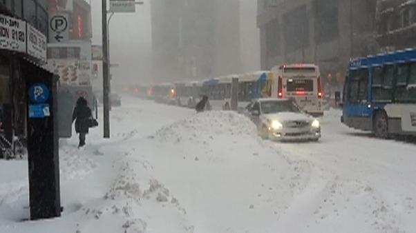 Heavy storm in Montreal