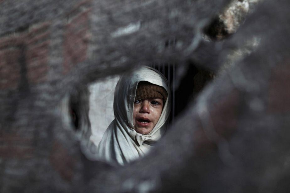 Slum scene in Islamabad