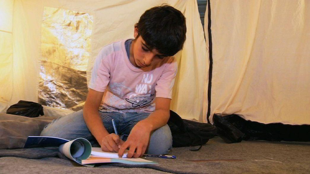 Los niños refugiados