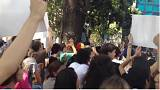 protest against arbitrary detention of students in Venezuela