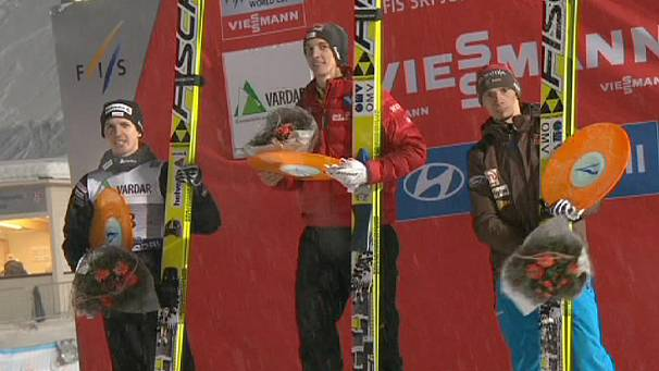 Gregor Schlierenzauer wins ski flying event in Norway