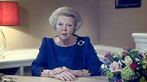 Queen Beatrix of the Netherlands abdicates in favour of her son