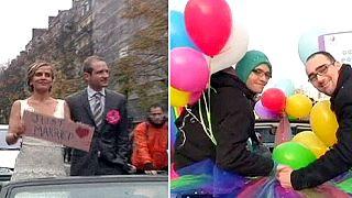 Eşcinsel evlilik Fransa'yı ikiye böldü