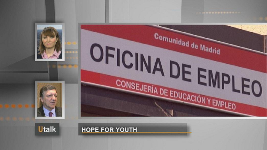 Barroso promete ajuda a jovens desempregados