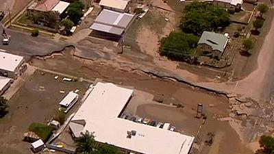 Australia's PM Gillard visits flood-hit Bundaberg