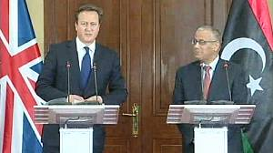 UK PM David Cameron makes unannounced Libya visit