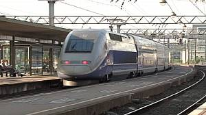 French TGV halted by flare wielding youths