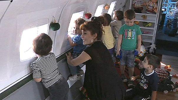 ¡Mi guardería es un avión!