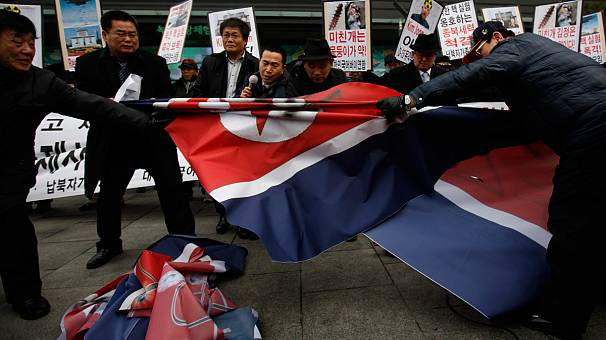 South Korean protesters call for North Korea to be 'punished'