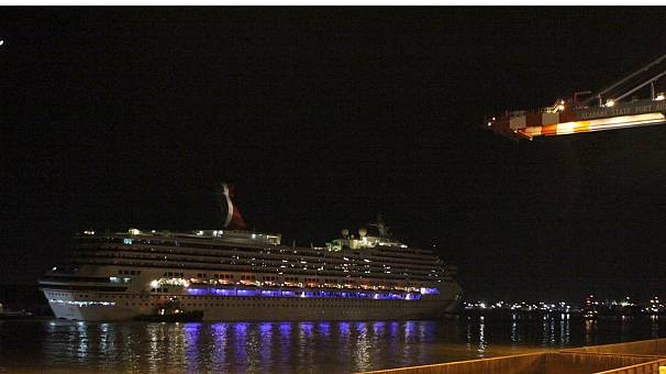 Stricken cruise ship makes landfall