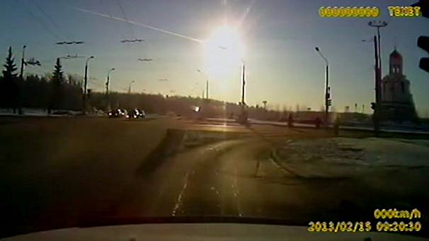 Central Russia meteor captured on camera