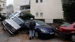 Torrential rain floods Sicily and Athens