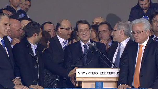 Cypriot President-elect promises fiscal rescue