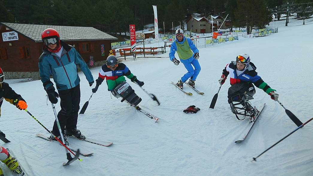 التزلج ودخول المنافسات رغم الإعاقة