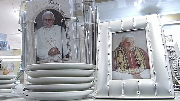 Benedict departures boosts demand for pope memorabilia