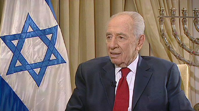 شمعون بيريز رئيس دولة إسرائيل في تصريحات خاصة  لقناة يورونيوز