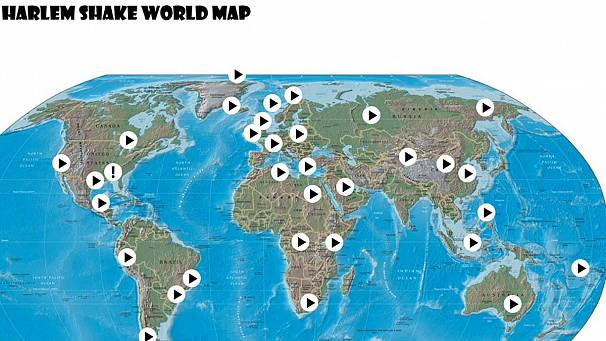 Mapping the worldwide spread of the Harlem Shake