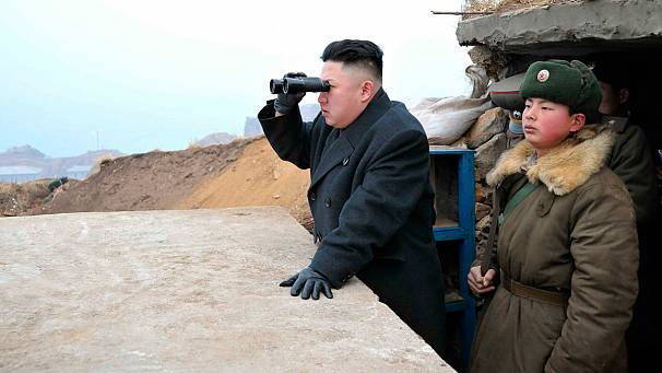 North Korea's Kim Jong-un on the frontline